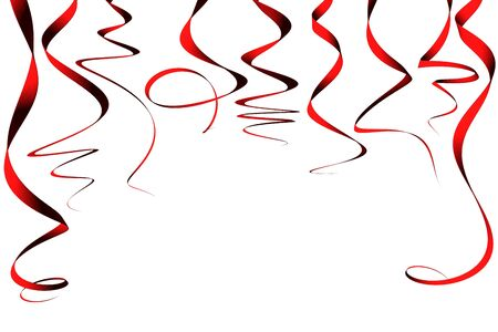 Red ribbons - 3d render Stock Photo - 3720326