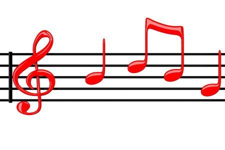 Music notation -3d render