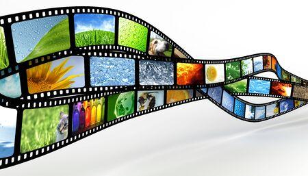 Roll film: Cine Foto de archivo
