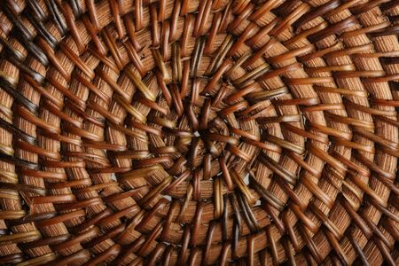 fabric texture: Woven wooden texture Stock Photo