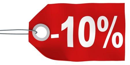 percent sign: 10% off tag