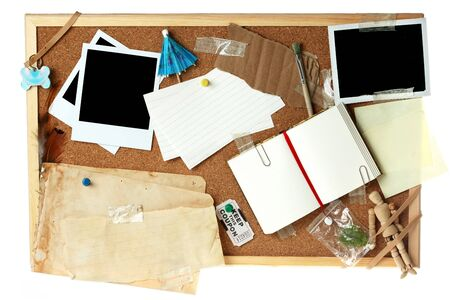 Corkboard full of blank items for editing Stock Photo - 4460533