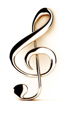 treble clef: Treble clef Stock Photo