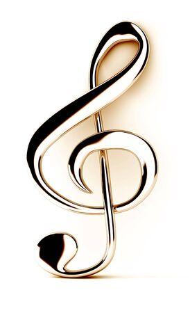 Treble clef Imagens