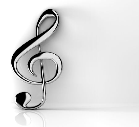 bass clef: Treble clef Stock Photo