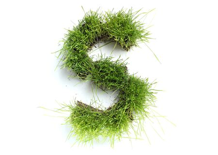 Letters made of grass - S
