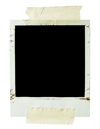 Old blank photograph photo