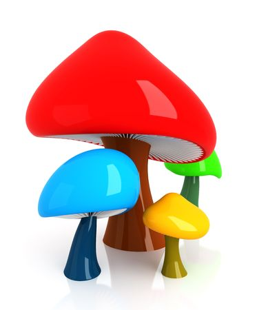 shiny background: Mushrooms