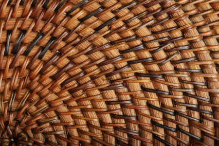 Woven wooden texture photo