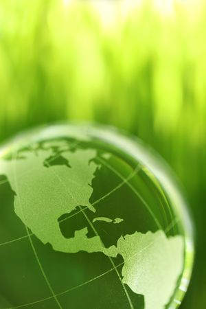 Glass earth in grass Stock Photo - 4952231