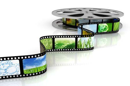 rollo pelicula: Cine Foto de archivo