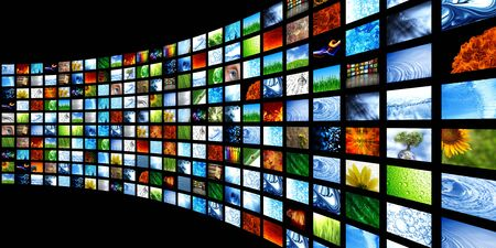flatscreen: Collection of images Stock Photo