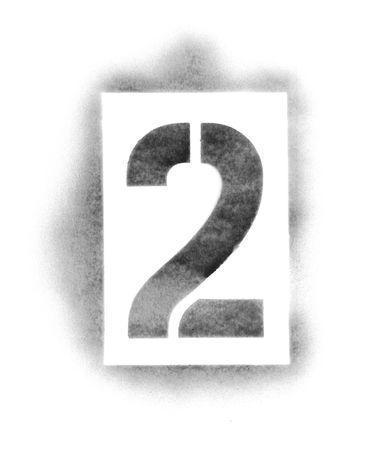 Numeri di stencil in vernice spray Archivio Fotografico - 5054789