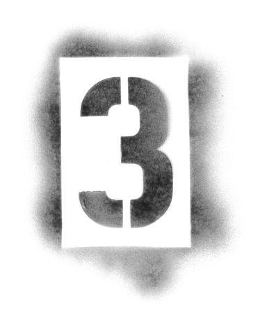 numbers abstract: Stencil numbers in spray paint