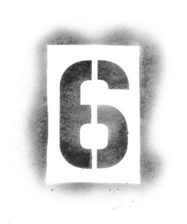 Numeri di stencil in vernice spray Archivio Fotografico - 5054797