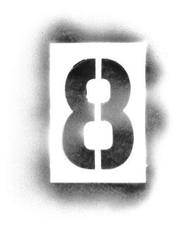 スプレー ペイント ステンシル番号 写真素材