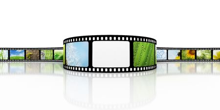 Film met lege plek voor foto