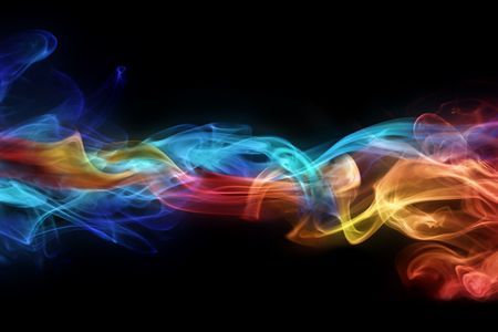 color effect: Fire & ice design Stock Photo