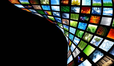 lcd tv: Collection of images Stock Photo