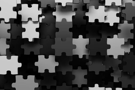 Puzzle pieces background