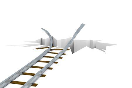 Damaged railway