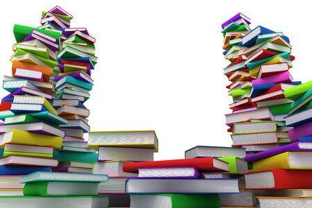 literate: Stacks of books