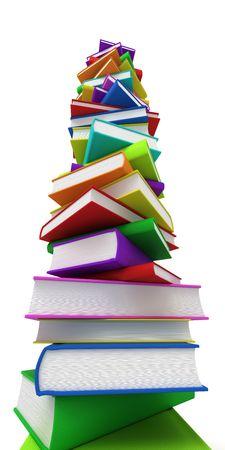 sachant lire et �crire: Des piles de livres
