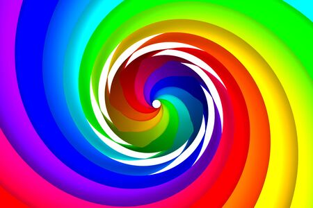 Colorful spiral photo