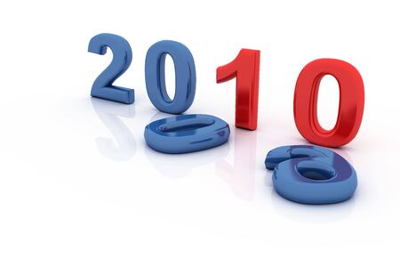 newyear: 2010 Stock Photo