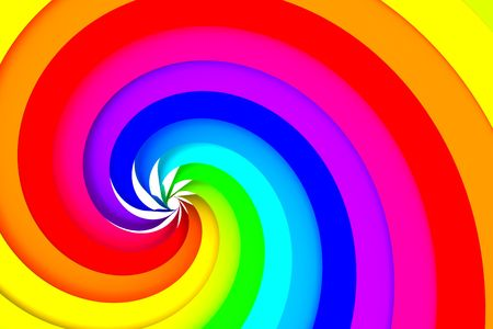 rainbow abstract: Colorful spiral