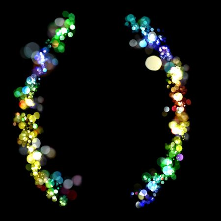 Lights in the shape of parentheses photo