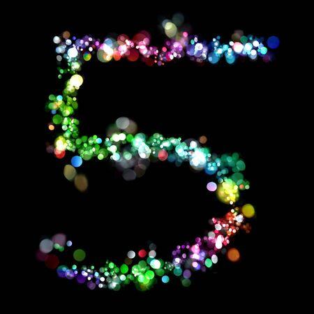 数字の形でライト 写真素材