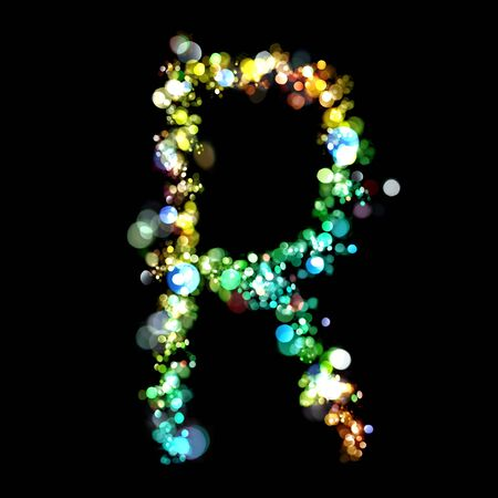 Lights in the shape of letters photo