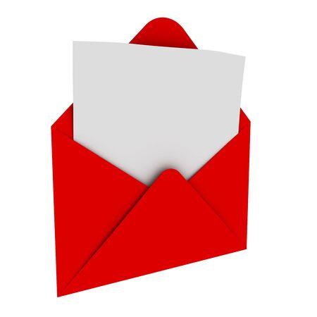 open envelope: Envelope with blank letter
