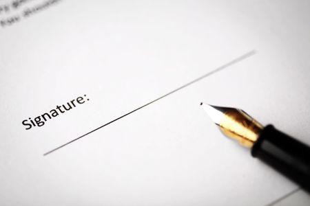 Signature part of a document