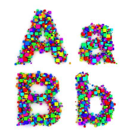 Brieven van kleurrijke-vensters  Stockfoto