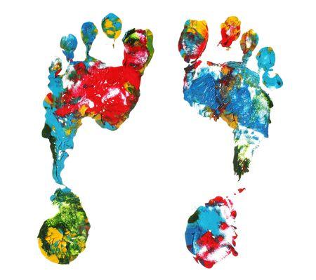 pieds sales: Impressions de pied  Banque d'images