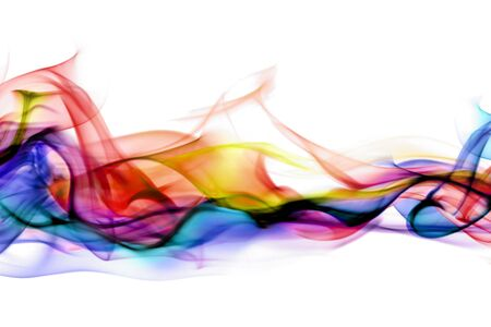 cool colors: Abstract smoke Stock Photo