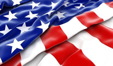 forth: USA flag - 3D render Stock Photo