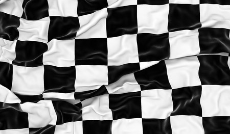 Checkered flag - 3D render Stock Photo - 7275231