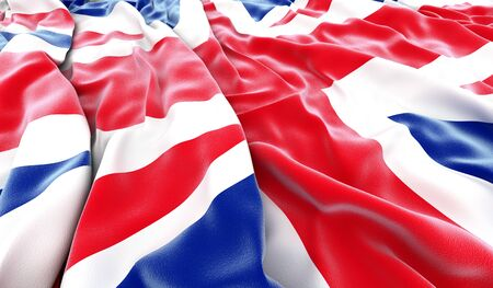 British flag - 3D render photo