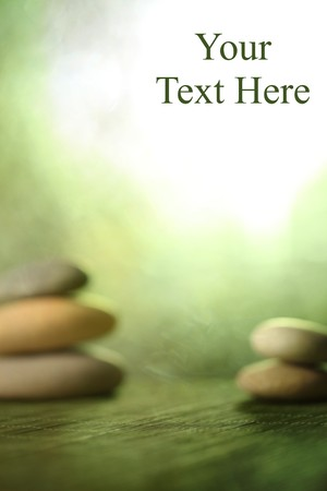 wellness environment: Rock garden background with space for text Stock Photo