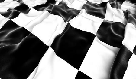 race winner: Checkered flag - 3D render Stock Photo