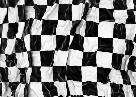 Checkered flag - 3D render photo