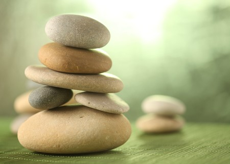 stack rock: Rock garden Stock Photo