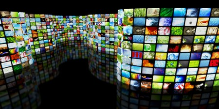 flat screen tv: Collection of images Stock Photo