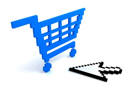 pixelate: Add to cart button Stock Photo