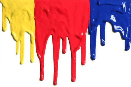 primary colours: Paint dripping