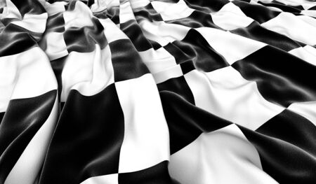 Checkered flag - 3D render photo