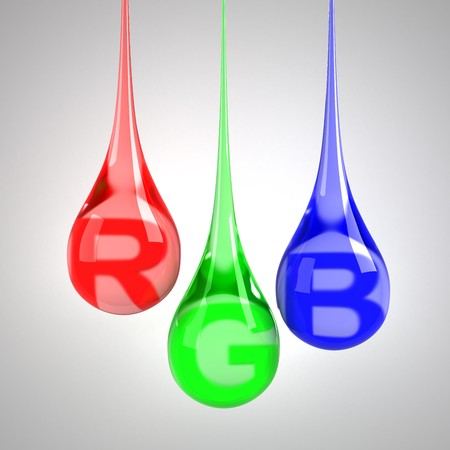 paint drop: RGB drops